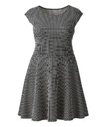 AX Paris Waffle Textured Skater Dress from Simply Be