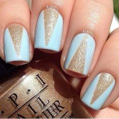Light blue and gold.