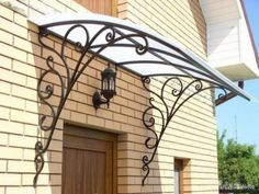 Wonderful Free Wrought Iron awning Strategies Dwelling designing using wrought iron will be as strong now because the wrought iron precious metal itself. Gate Design, Door Design, House Design, Iron Windows, Iron Doors, Wrought Iron Decor, Door Canopy, Iron Furniture, Grill Design