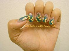 notorious-nails tropical flowers nail art design inspired by robin moses