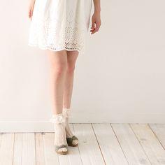 レース付トーションショートソックス  ¥1,890 Shoes, Zapatos, Shoes Outlet, Shoe, Footwear