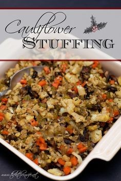Don't deprive yourself this holiday season, indulge with my mouthwatering Easy Cauliflower Stuffing Recipe.