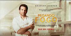 """Podem existir muitos tipos de cozinheiros, mas só 1 tipo de Chef: aquele que sabe cozinhar de verdade! O filme """"Pegando Fogo"""", com Bradley Cooper, está em cartaz nos cinemas. Relacionado"""