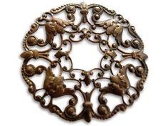 Vintaj Ornate Wreath Filligree by alwaysusie on Etsy Filigree, Jewelry Crafts, Wreaths, Beads, Diamond, Unique Jewelry, Handmade Gifts, Tools, Etsy