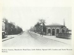 Railway Station Manchester Road East Little Hulton Salford, Manchester, Westerns, Taj Mahal, Roots, Train, London, Black And White, History