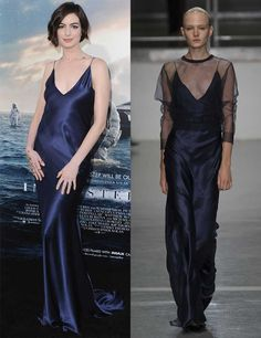 S/S 2015: Celebrities wearing the trends straight off the catwalk   Fashion, Trends, Beauty Tips & Celebrity Style Magazine   ELLE UK Anne Hathaway wears a Richard Nicoll Spring 2015 dress to the LA premiere of Interstellar, October 2014.