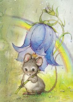 12 beaux tableaux de lisi martin - Page 2 Mouse Illustration, Animal Art, Storybook Art, Illustration, Cute Art, Whimsical Art, Cute Pictures, Cute Animal Drawings, Cute Drawings