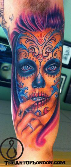 london reese brittan reese brittan london reese best ink day of the dead girl angelina jolie tattoo dia de los muertos tattoo