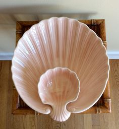 A personal favorite from my Etsy shop https://www.etsy.com/listing/522348220/vintage-lrg-scioto-ceramic-clamshell
