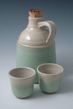 John Hesselberth - Whiskey Jug & Cups | Frog Pond Pottery