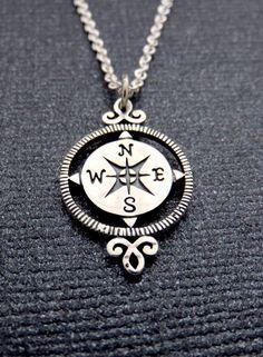 Victorian Compass Necklace | Retirement Gift for Women Handmade Jewelry | MarciaHDesigns | Sterling Silver Compass Necklace  https://marciahdesigns.com/collections/necklaces/products/retirement-gifts-for-women-sterling-silver-compass-necklace-victorian-compass-compass-rose-graduation-gift-for-her-marciahdesigns-mhd?utm_content=buffer0c1fe&utm_medium=social&utm_source=pinterest.com&utm_campaign=buffer