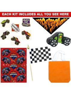 Deluxe Monster Truck Favor Kit - Party Favors & Party Supplies