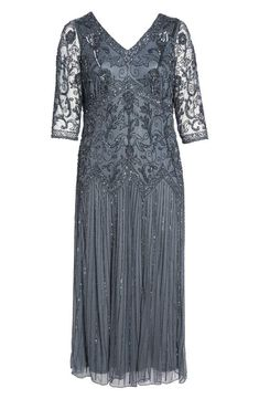 32159dd9308a3 Pisarro Nights Embellished Double V-Neck Midi Dress (Plus Size) | Nordstrom