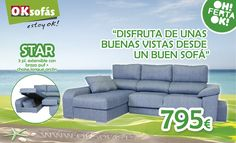 Este #verano, disfruta de unas buenas #vistas desde un buen #sofá. http://www.oksofas.es/oferta-del-mes/