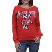 Wisconsin Badgers Women's Slouchy Pullover Sweatshirt - Cardinal