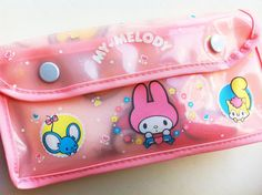 Used to live bringing this set To sleepovers!!  And its selling for $35 Now?!  What?! Vintage Sanrio Early 80s MY MELODY Towel Case by sarahpang on Etsy, $35.00