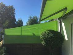 #Markise im Doppel! #Seitenmarkise unten, #Kassettenmarkise oben. Dieses frische grüne #Tuchdessin macht richtig Spass und vermittelt ein richtig schönes #Urlaubsfeeling auf der #Terrasse - Durch die #Vollkassette gibt es #Schatten satt von oben und die #Schrägverschattung #Markilux790mitSchrägschnitt schirmt seitliche #Sonnenstrahlen ab. #mauersberger #Wiesbaden #Delkenheim - auch für #Hochheim #Eltville #Rheingau #Hofheim #Niedernhausen #Sonnensegel & #Terrassendach in Perfektion.