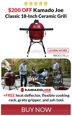 List: $1,099.00 | CLEARANCE $899.00 +FREE SHIPPING. While supplies last, save $200 on the Kamado Joe Classic ceramic BBQ grill! As an added bonus, you'll also receive a heat deflector, flexible cooking rack, grate gripper, and ash tool. Kamado Grill, Kamado Joe, Bbq Grill, Grilling, Ceramic Grill, Grill Master, Ceramic Coating, Workplace, Flexibility