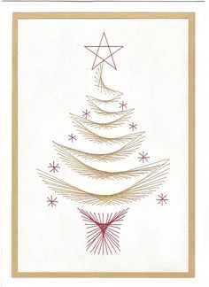 Free Paper Stitching Cards Patterns | loved doing this tree and have done more of it. So easy to work and ...