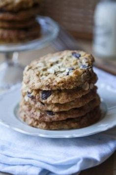 Chocolate Chip, Oat and Raisin Cookies