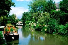 Canal boat hire offers beautiful vistas like this of the Kennet and Avon Canal.