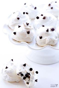 Chocolate Chip Meringue Cookies   Gimme Some Oven