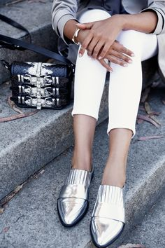 16f0aae45cbbc9 VivaLuxury - Fashion Blog by Annabelle Fleur  TRENCHING IT IN SF Metallic  Loafers