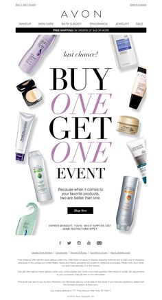 AVON - Last chance to BOGO!
