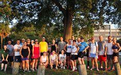 RunTampa.com group run at Patriot's Park on a beautiful morning.