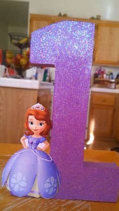 Sofia the first centerpiece princess by OohLaLaHairRibbons on Etsy, $12.00