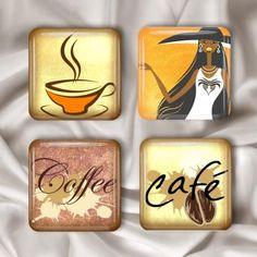 Coffee Glass Magnets