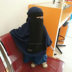 Muslim Girls, Muslim Couples, Muslim Women, Cute Kids Photos, Cute Cartoon Pictures, Anime Muslim, Muslim Hijab, Hijab Niqab, Hijab Outfit