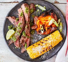 Steak with chimichurri sauce is a classic combination, but pickled jalapeños give it a modern twist