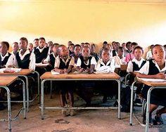 Schüler in einer Schule an der Coffeebay.
