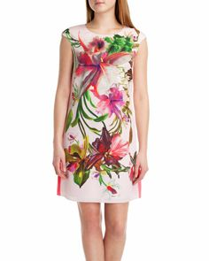 Floral print tunic - Nude Pink   Dresses   Ted Baker UK