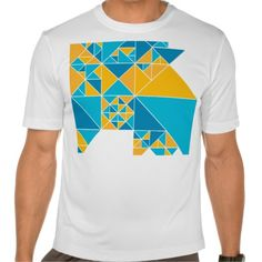Triangulation design T-shirts. A complex, visually striking geometric design based on triangles of various sizes, creating a mix of uniformity and surprise. Bold, interesting and attractive.