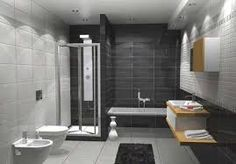 wall hung toilet and basin on tiles - Google Search