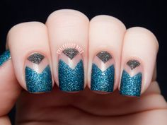 Bare Nail Textured Chevrons with Nicole by OPI Gumdrops | Chalkboard Nails | Nail Art Blog