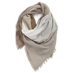 Women's Bp. Check Woven Square Scarf (95 BRL) ❤ liked on Polyvore featuring accessories, scarves, ivory multi, lightweight scarves, ivory shawl, braided scarves, fringe scarves and print scarves
