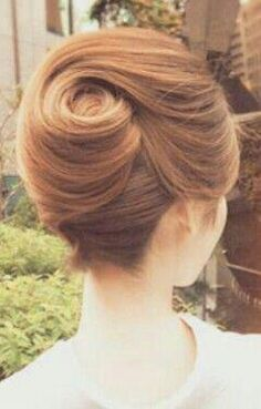 The perfect swirl french twist up dos for medium hair, hairdo for long hair, Hairdo For Long Hair, Up Dos For Medium Hair, Hair Updo, Easy Hair, Easy Bun, Simple Updo, Hair Simple, Hair Up Styles, Medium Hair Styles
