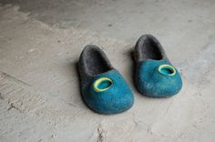 Felted Wool Slippers  Men Women Unisex House Shoes by MusiuMuse, $72.00