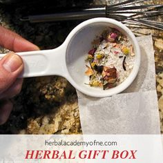 Make an Herbal Gift Box - a Collection of Herbal Remedies