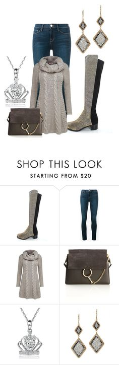 """otk boots"" by kim-coffey-harlow ❤ liked on Polyvore featuring Stuart Weitzman, Frame, Joe Browns, Chloé and Dana Kellin"