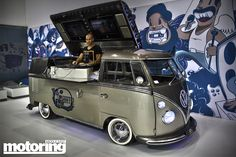 The ultimate DJ box . . . A VW camper. Highly modified and very original