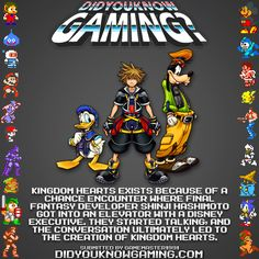 Kingdom Hearts happened because Shinji Hashimoro got in an elevator with a Disney Executive?