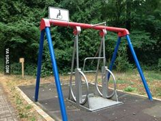 The ability to be able to have one of these in any playground in a school involves every child in recreational play at break times - link to inclusivity literature