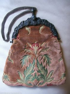 Vintage Victorian Style Roman Tapestry Brocade Purse CARPETBAGS OF AMERICA #CarpetbagsofAmerica #EveningBag