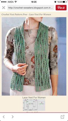女性のニットかぎ針編みのベスト