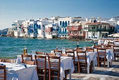 El lugar ideal  A las orillas del Egeo, Mikonos, Islas Cícladas, Grecia.