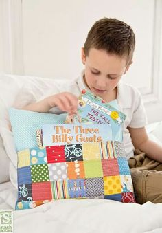 Pillow with book pocket